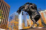 Statue équestre, Kansas City, Missouri, États-Unis d'Amérique, l'Amérique du Nord