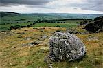 Blocs erratiques de norber près Austwick, blocs erratiques laissé sur pavé calcaire par l'érosion, le Parc National de Yorkshire Dales, Yorkshire, Angleterre, Royaume-Uni, Europe