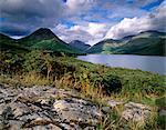 Wast eau et Yewbarrow, 627 m, Parc National de Lake District, Cumbria, Angleterre, Royaume-Uni, Europe