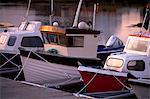 Bateaux aux murs, continent du Ouest, les îles Shetland, Ecosse, Royaume-Uni, Europe