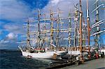 Port de Lerwick, hébergement des bateaux de course Cutty Sark Tall Ships en 1999, Lerwick, continentale, les îles Shetland, Ecosse, Royaume-Uni, Europe