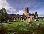 Timoleague Abbey, Abbaye franciscaine datant du 13ème siècle avec XVIe siècle tour, Timoleague, Munster, comté de Cork, Irlande, Europe