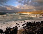 Break over Sound of Taransay, near Borve, South Harris, Outer Hebrides, Scotland, United Kingdom, Europe