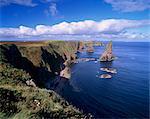 Duncansby Head éperons, pointe nord-est de l'Ecosse, Caithness, région des Highlands, Ecosse, Royaume-Uni, Europe