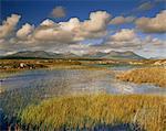 Ballynahinch et les douze broches, près de Clifden, Connemara, comté de Galway, Connacht, République d'Irlande (Eire), Europe