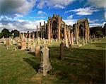 Melrose Abbey, Melrose, Borders, Scotland, United Kingdom, Europe