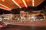 Washington Avenue, Miami Beach, Floride, États-Unis d'Amérique, l'Amérique du Nord