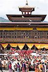 Festival bouddhiste (Tsechu), Trashi Chhoe Dzong, Thimphu, Bhoutan, Asie