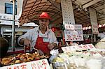 Food vendor in Wangfujing Snak Road, Wangfujing Dajie shopping district, Beijing, China, asia