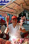 Cuisine chinoise, Wangfujing Snack Road, Wangfujing Dajie shopping district, Beijing, Chine, Asie