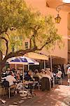 Café de la vieille ville, Monaco, Côte d'Azur, Europe