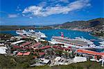 Havensight Cruise Ship Terminal, ville de Charlotte Amalie, St. Thomas Island, îles Vierges américaines, Antilles, Caraïbes, Amérique centrale