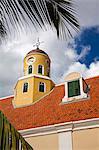 Église de fort dans le Fort Amsterdam, District de Punda, Willemstad, patrimoine mondial de l'UNESCO, Curaçao, Antilles néerlandaises, Antilles, Caraïbes, Amérique centrale