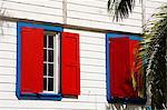 Persiennes, Saint-Jean, île d'Antigua, Antigua et Barbuda, îles sous-le-vent, petites Antilles, Antilles, Caraïbes, Amérique centrale
