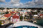 Saint-Jean et l'arc de croisière expédier, île d'Antigua, Antigua et Barbuda, îles sous-le-vent, petites Antilles, Antilles, Caraïbes, Amérique centrale