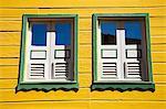 Bois de construction sur la rue Lazare Carnot, fort de France, Martinique, France Antilles, Antilles, Caraïbes, Amérique centrale