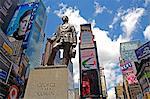 George M. Cohan Statue, Times Square, Midtown Manhattan, New York City, New York, États-Unis d'Amérique, Amérique du Nord
