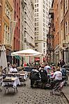 Repas sur Stone Street, Lower Manhattan, New York City, New York, États-Unis d'Amérique, Amérique du Nord en plein air