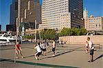 Volley ball Cour, World Financial Center, Lower Manhattan, New York City, New York, États-Unis d'Amérique, Amérique du Nord