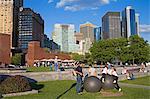 Robert F. Wagner Park, Lower Manhattan, New York City, New York, United States of America, North America
