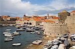 Old Port area, Dubrovnik, Dalmatia, Croatia, Europe