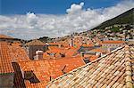 Red tiled roofs, Dubrovnik, Dalmatia, Croatia, Europe