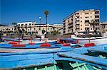 Fishing boats, Piazzale Batteria Masotto, Messina, Sicily, Italy, Europe