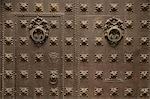 Door detail, Esglesa de Sant Sever Church, Gothic Quarter, Barcelona, Catalonia, Spain, Europe