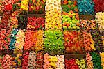 La Boqueria food market, La Rambla street, City of Barcelona, Catalonia, Spain, Europe