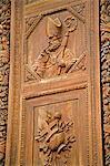 Door detail, Basilica di Santa Croce, Florence, Tuscany, Italy, Europe