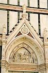 Doorway detail, Basilica di Santa Croce, Florence, Tuscany, Italy, Europe