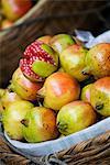 Basket of pomegranates, Xining, Qinghai, China, Asia