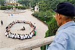 Exercices du matin, dans le parc, Lanzhou, Gansu, Chine, Asie