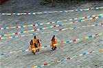 Jaune chapeau secte moines Gelugpa, Temple de Tagong, Tagong, Sichuan, Chine, Asie