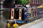 Bateau de canal à Castlefield, Manchester, Angleterre, Royaume-Uni, Europe