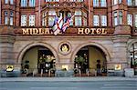Midland Hotel entrance, Manchester, England, United Kingdom, Europe