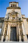 San Pedro cathédrale, Arcos de la Frontera, l'un des villages blancs, Andalousie, Espagne, Europe