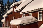 Grange à Lorenseter, Nordmarka, Oslo, Norvège, Scandinavie, Europe