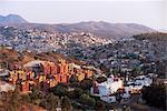 Looking south from La Valenciana towards Guanajuate, capital of Guanajuato, Mexico, North America