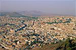 Surplombant de Zacatecas, l'état de Zacatecas, Mexique, Amérique centrale