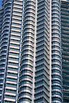 Gros plan d'une partie de la tour d'Ampang, Kuala Lumpur, en Malaisie, l'Asie du sud-est, Asie