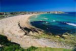 Bondi Beach, une des banlieues de l'océan Austral de la ville, Sydney, New South Wales, Australie