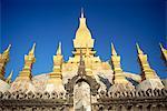 Stupas au Wat That Luang de Vientiane, au Laos, Indochine, Asie du sud-est, Asie
