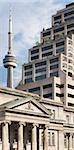 Vue sur la tour du CN et des bâtiments, Toronto, Ontario, Canada