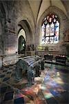 Tombeau de Saint Ronan, église de Saint Ronan, Locronan, Finistere, Bretagne, France