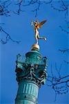 Genie de la Liberte atop the Colonne de Juillet, Place de la Bastille, Paris, France