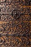 Gros plan de la porte, la cathédrale Notre-Dame, Paris, France