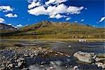 Klondike River und bedeckt Range, Ogilvie Mountains, Tombstone Territorial Park, Yukon, Kanada