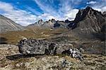 Mount Monolith, Tombstone Range, Ogilvie Mountains, Tombstone Territorial Park, Yukon, Canada