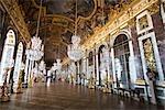 Galerie des glaces, château de Versailles, Ile de France, France